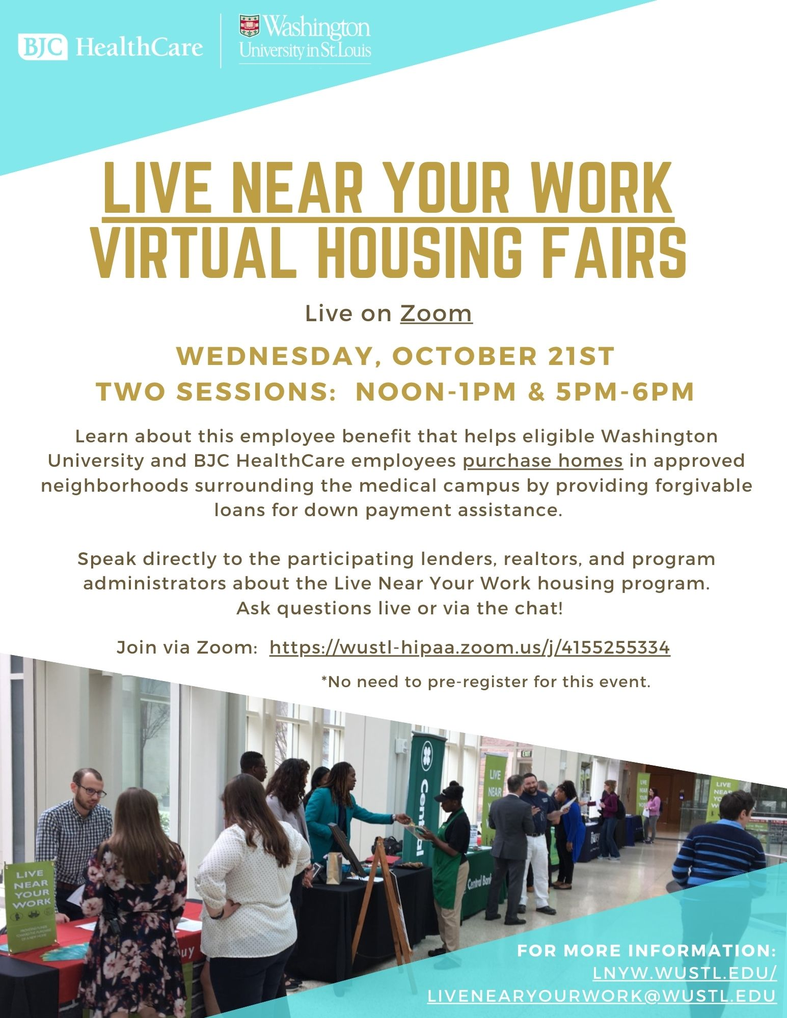 2020 Live Near Your Work Virtual Housing Fairs Flyer